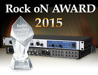Rock oN Company - Best Audio Interface Award 2015