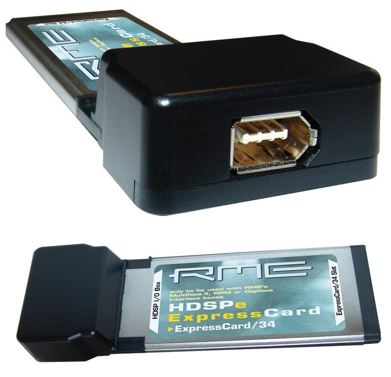 RME HDSPe ExpressCard/34