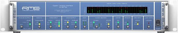RME M-32 DA konverter MADI és ADAT I/O-val - előlap