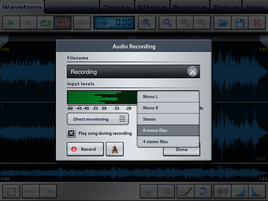 Music Studio On Ipad